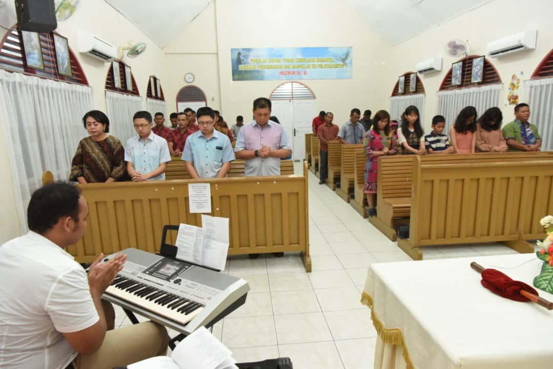 Umat Kristiani Lanud Rsn Lakukan Ibadah Ucapan Syukur