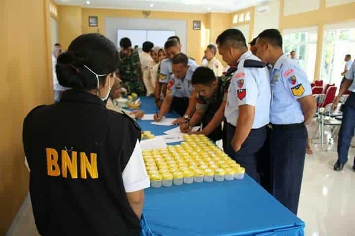 Cegah Penggunaan Narkoba, Personel Lanud J.b. Soedirman Didadak Laksanakan Tes Urine