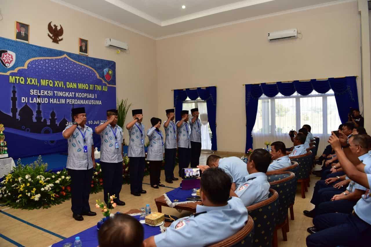 Tujuh Personel Lanud Halim Perdanakusuma Ikuti Seleksi Mtq Tingkat Koopsau I