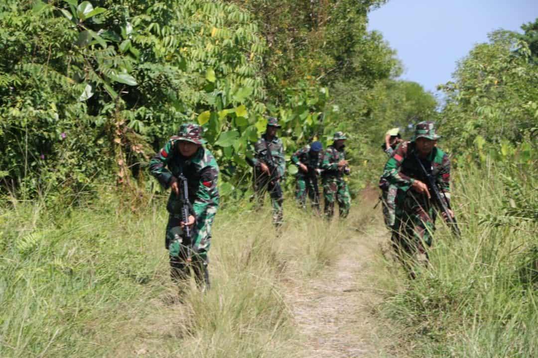 Prajurit Lanud Sutan Sjahrir Melaksanakan Latihan Hanlan