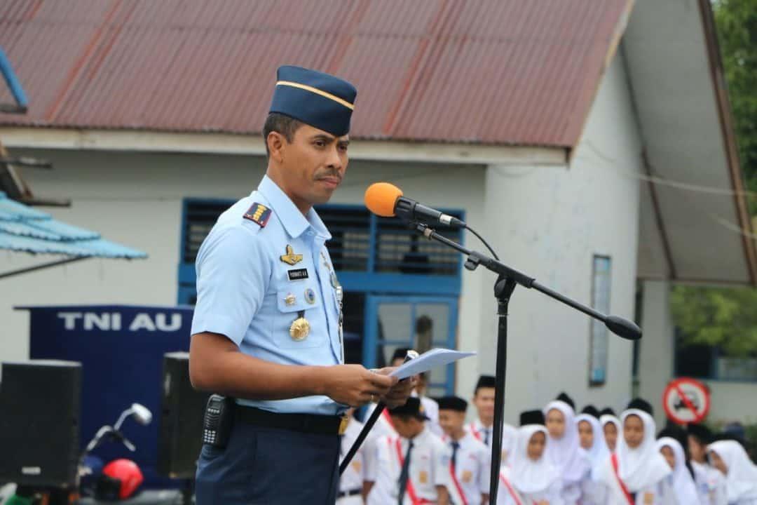 Komandan Lanud Sutan Sjahrir Membuka Masa Orientasi Peserta Didik Baru (mopdb) Sekolah Angkasa