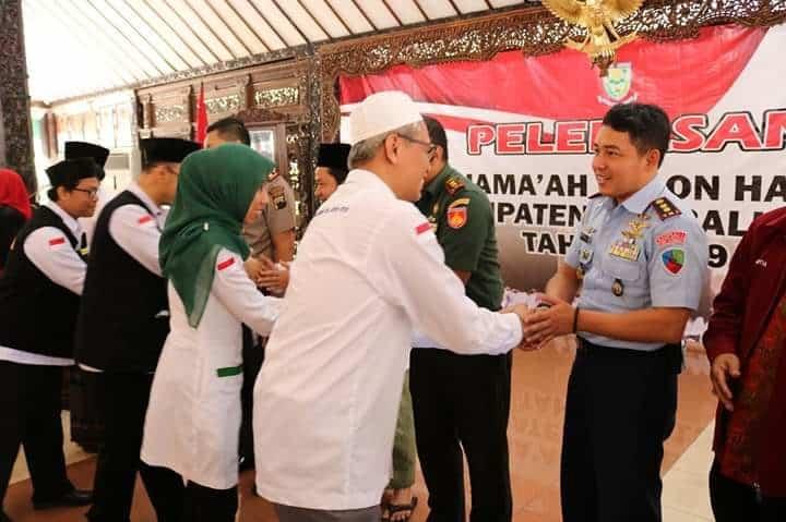 Komandan Lanud J.b. Soedirman Menghadiri Acara Pelepasan Calon Jamaah Haji (calhaj) Kabupaten Purbalingga