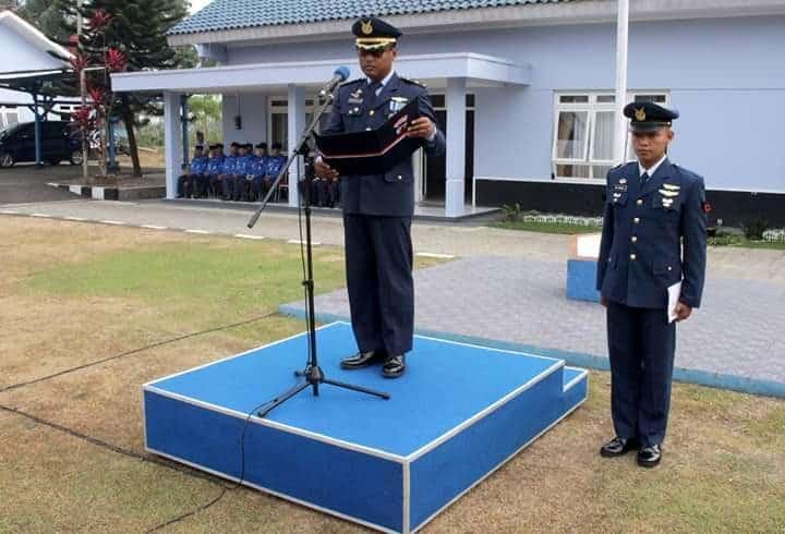 Personel Lanud J.b. Soedirman Melaksanakan Upacara Peringatan Hari Bakti Tni Angkatan Udara Ke-72