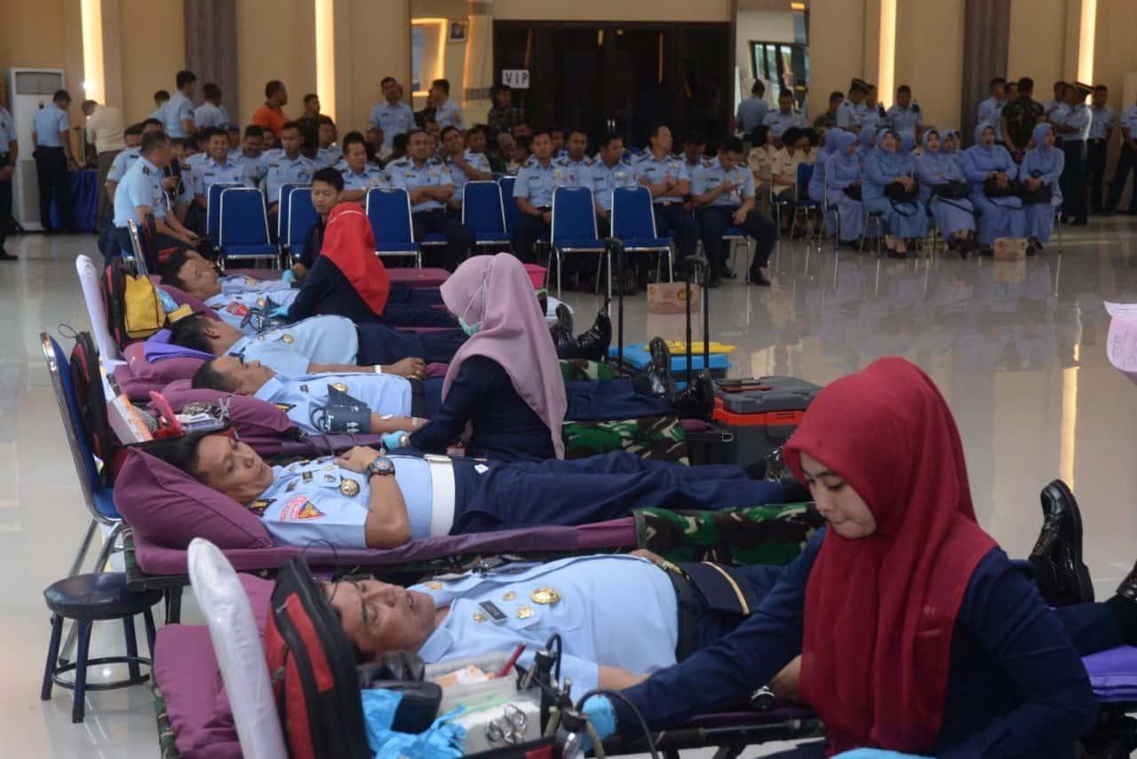 Kepedulian Warga Koopsau I Gelar Donor Darah