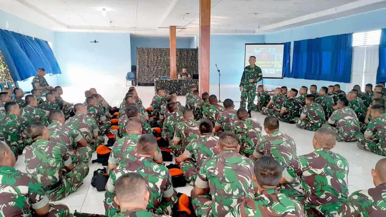 Satgas Pamrahwan Papua Yonko 462 Paskhas Pembekalan Bintal