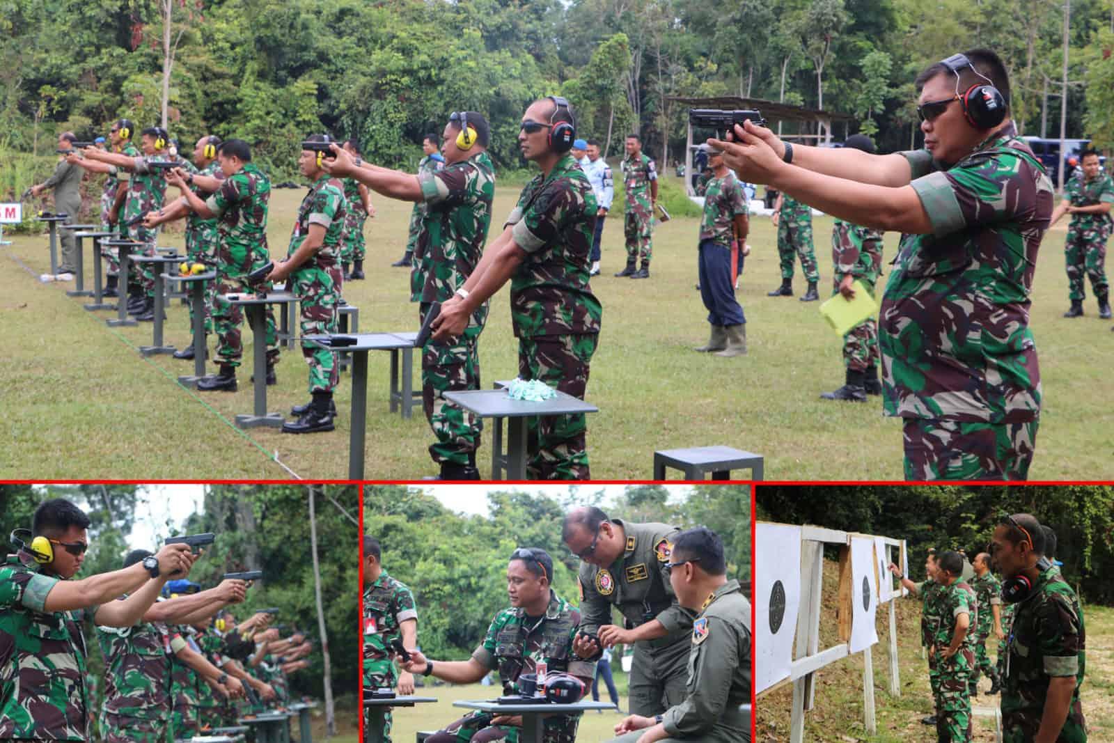 Danlanud Rsn Uji Kemampuan Perwira Menembak