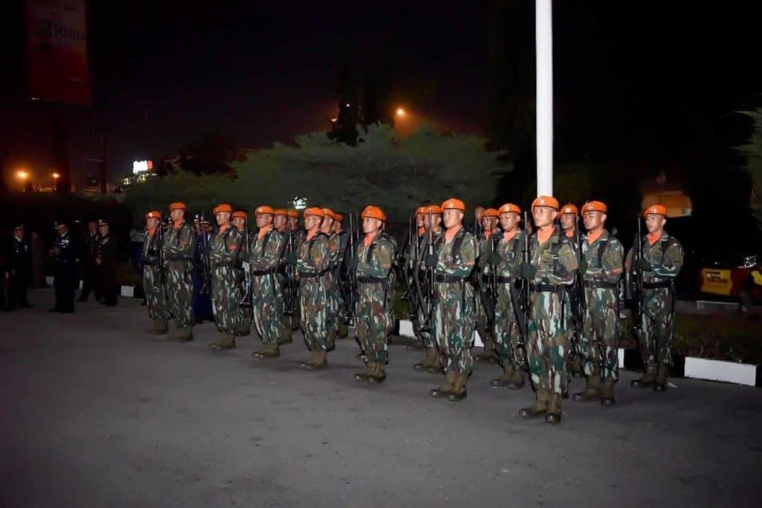 Batalyon 462 Paskhas ikuti AKRS di TMP Kusuma Dharma Pekanbaru