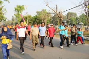 Olahraga Bersama Forkopimda Kabupaten Tulang Bawang