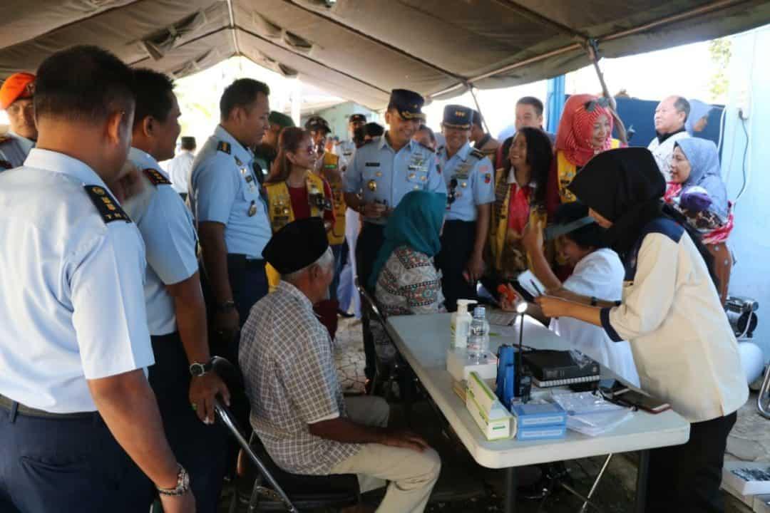 Lanud Abdulrachman Saleh Gelar Bakti Sosial Kesehatan Di Desa Sukolilo, Malang