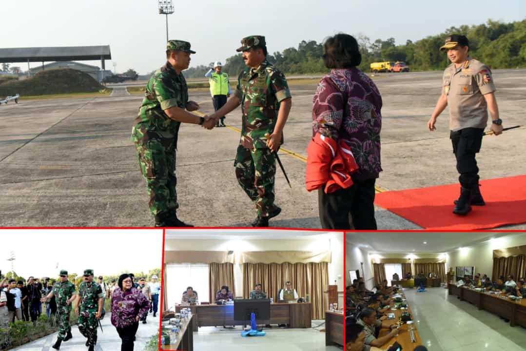 Danlanud Rsn Terima Kunjungan Panglima TNI, Kapolri dan Mentri LHK