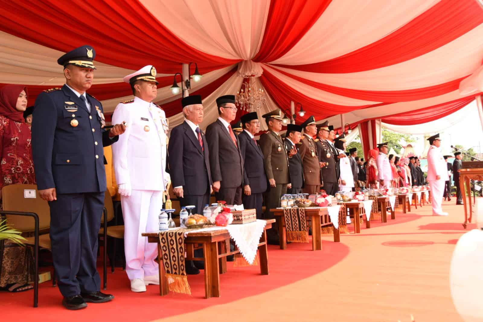 Lanud Pangeran M. Bun Yamin Turut Serta Dalam Memperingati HUT RI ke-74 di Empat Wilayah.
