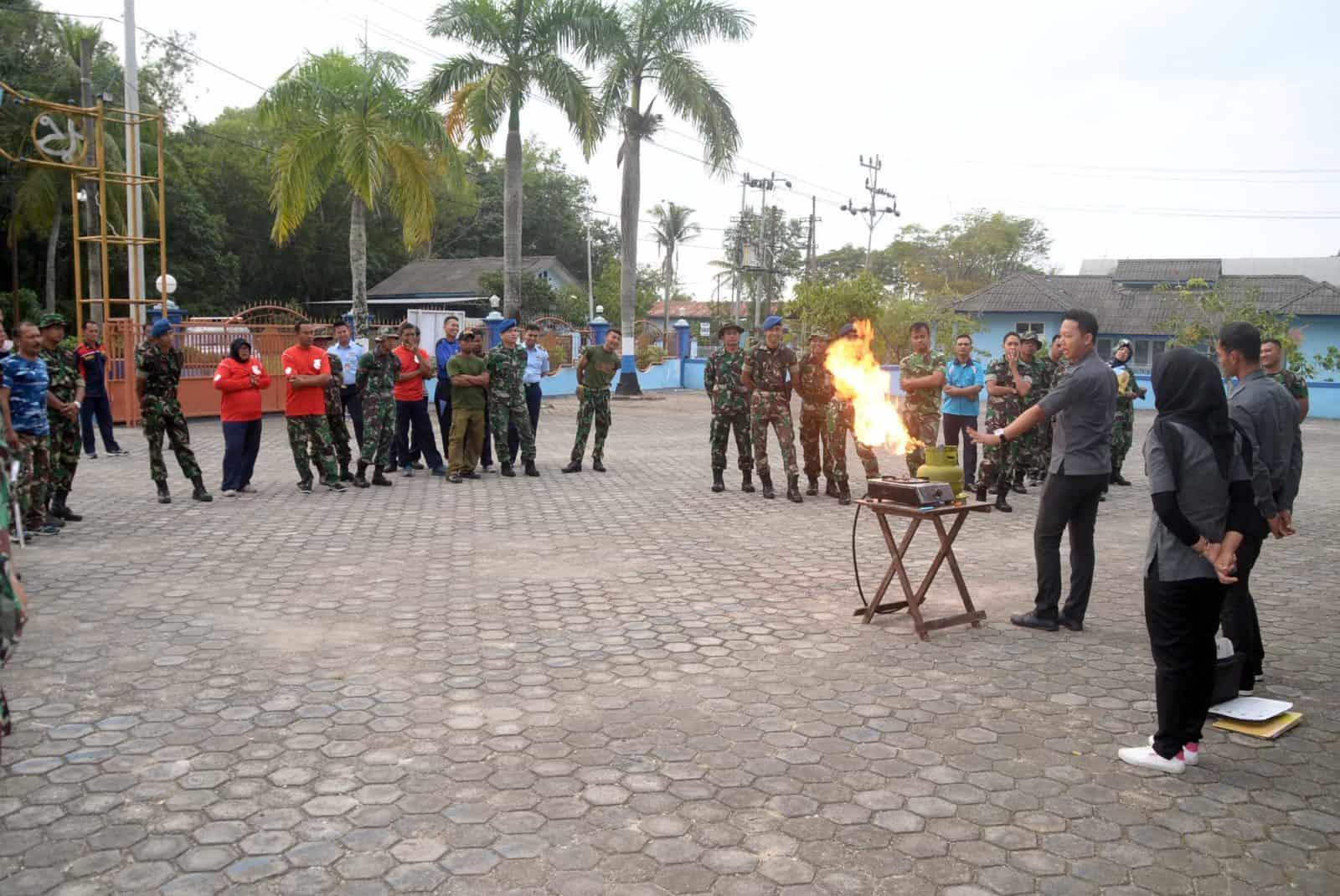 Sosialisasi Pengendalian Penggunaan Gas Lpg Di Lanud Sjamsudin Noor