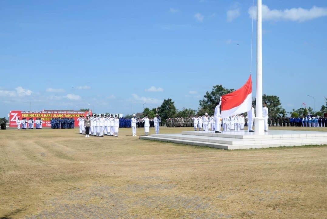 Personel Lanud Sjamsudin Noor Ikuti Rangkaian Peringatan HUT RI Ke-74 Tahun 2019 Di Beberapa Kota Wilayah Kalimantan Selatan