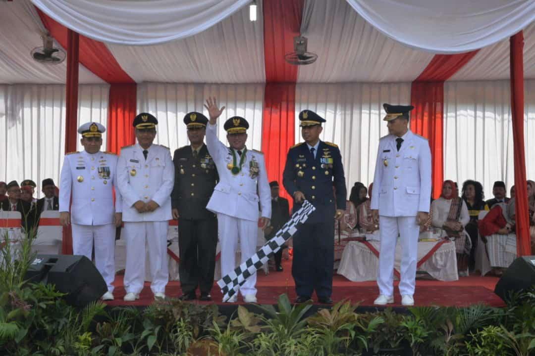 Panglima Kosekhanudnas III Selaku Irup Pawai Pembangunan Rangkaian HUT Ke-74 Kemerdekaan RI