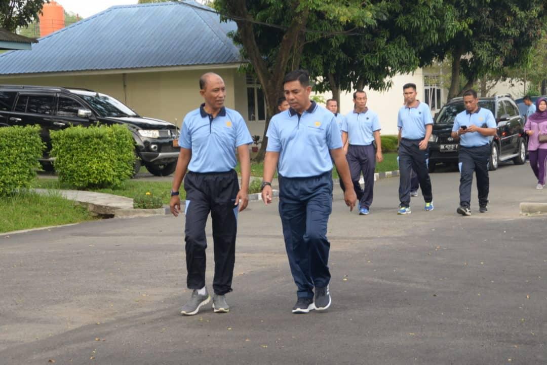Kosekhanudnas III Dengan Lanud Soewondo Olah Raga Bersama Sembari Meningkatkan Kekompakan