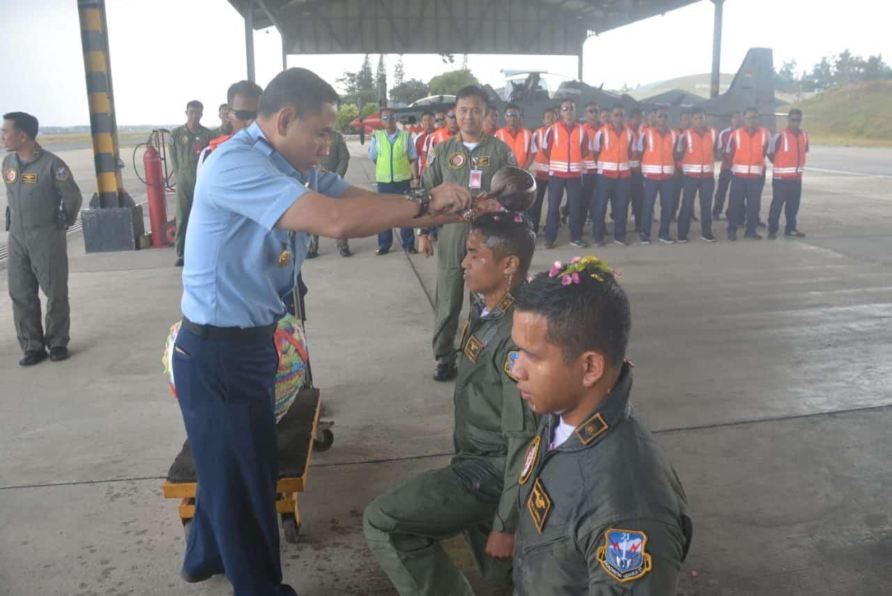Dua Siswa Penerbang Transisi di Skadron Udara 21 LAnud Abdulrachman Saleh Masuki Tahap Terbang Solo