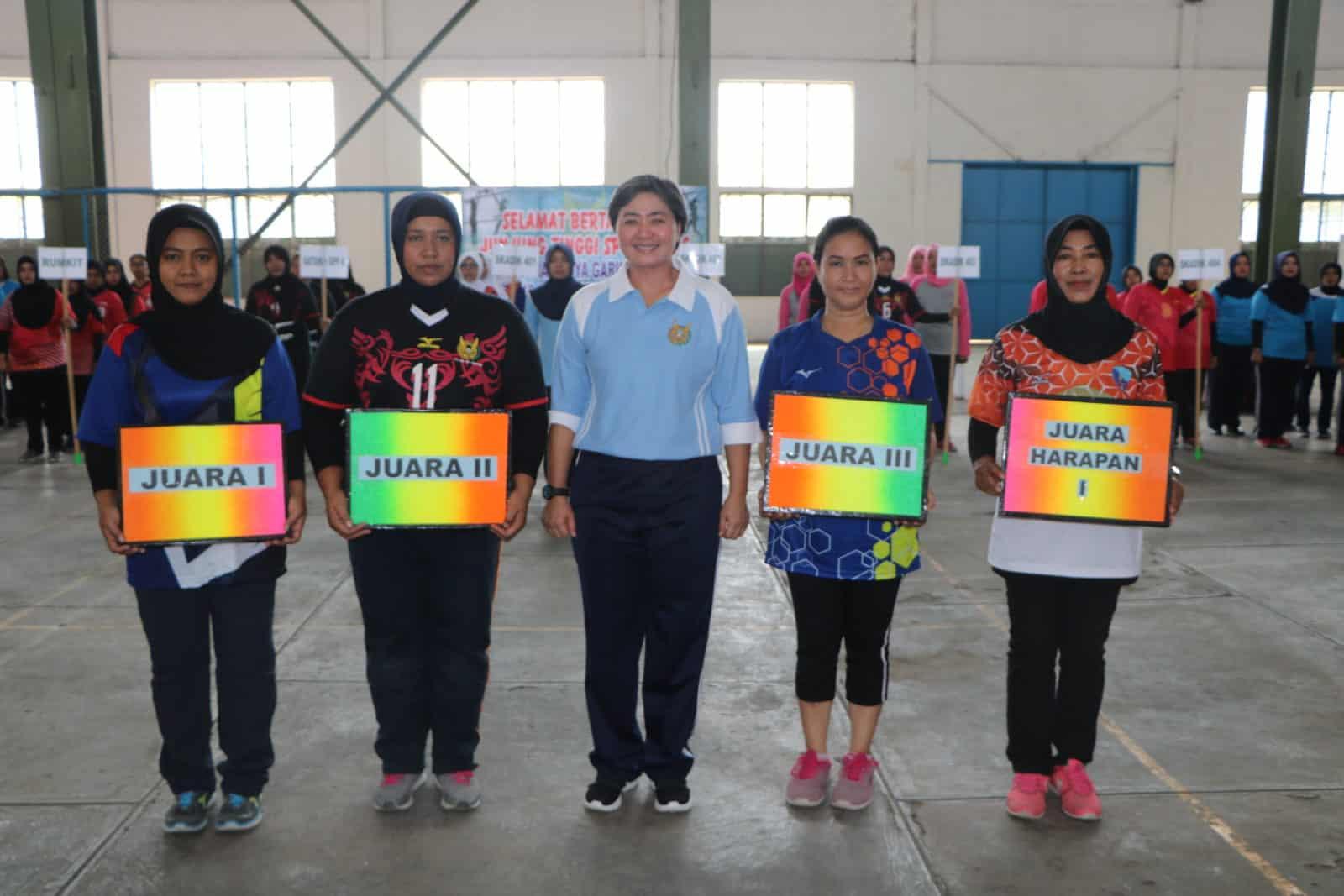 Mako Depohar 50 Raih Juara Pertandingan Voli HUT Pia Ardhya Garini LXIII