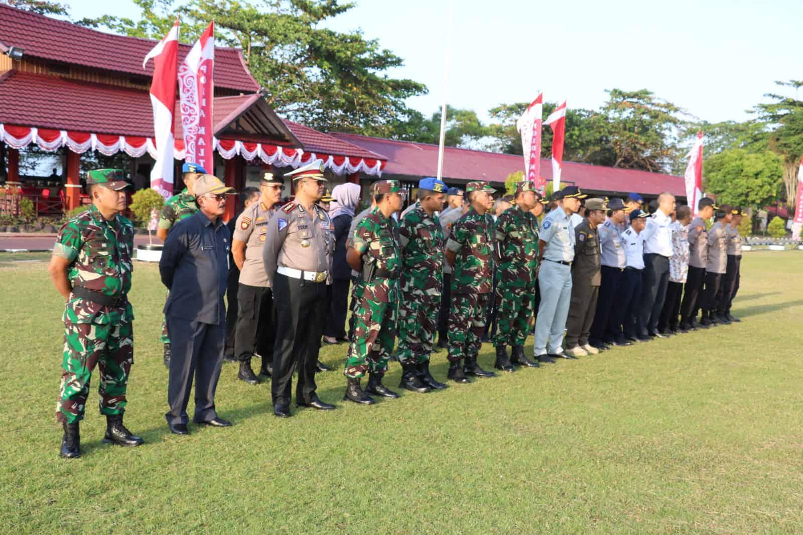Lanud Dhomber Turut Serta Apel Gelar Pasukan Operasi Patuh Mahakam 2019