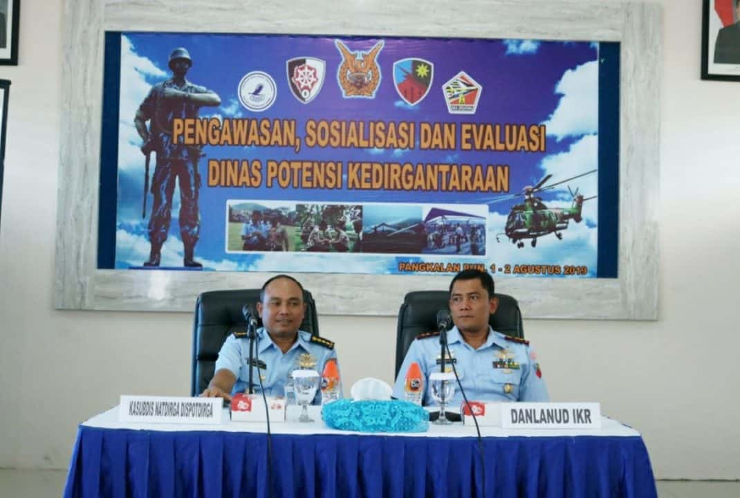 Lanud Iskandar Terima Kunjungan Pengawasan, Sosialisasi Dan Evaluasi Binpotdirga