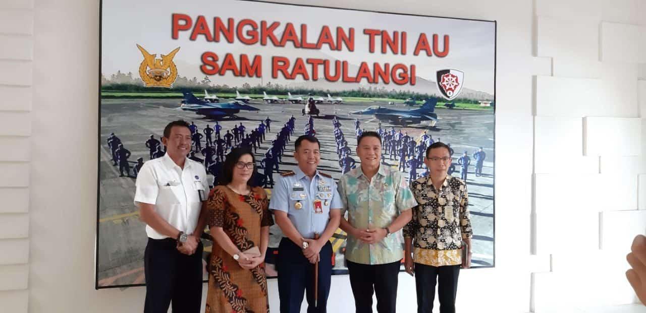 Walikota Tomohon Mengadakan Kunjungan Silahturahmi Ke Lanud Sam Ratulangi