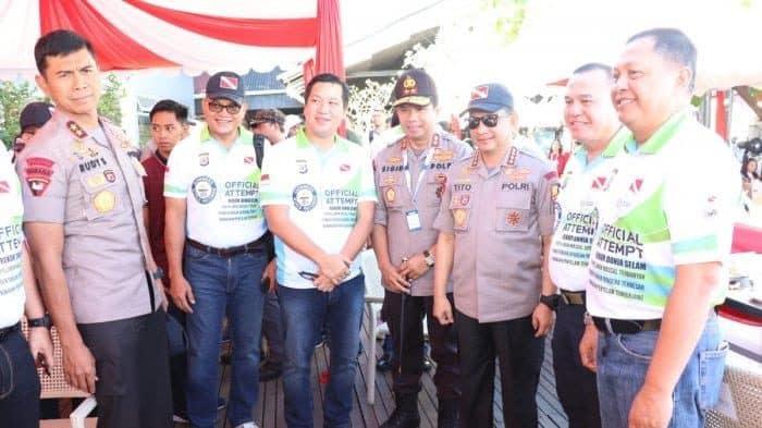 Pangkoopsau Ii Menghadiri Pemecahan Rekor Dunia Selam Di Pantai Megamas Manado