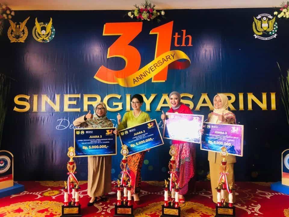 SMP dan SMA Angkasa Lanud Adisutjipto Raih Prestasi dalam rangka Lomba Antar Sekolah HUT ke-31 Yasarini