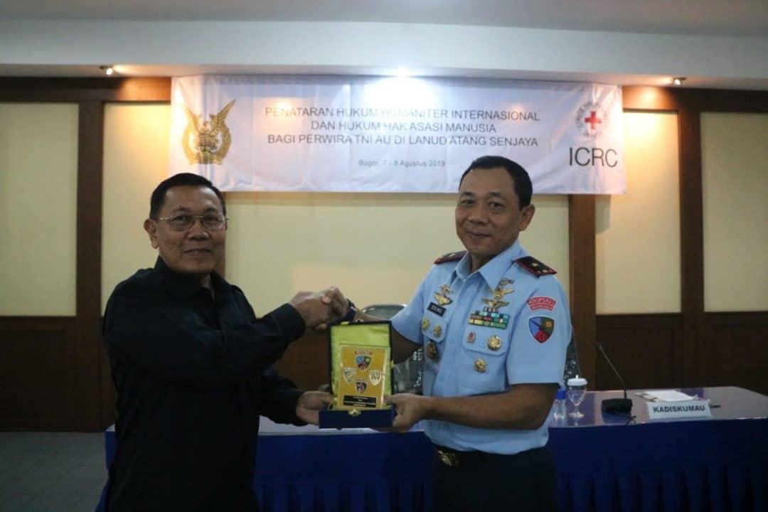 Danlanud ATS Buka Penataran Hukum Han Dan Humum Humaniter