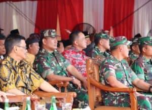 Danlanud Dhomber Hadiri Acara Penutupan TMMD ke 105 yang Dipimpin Panglima TNI