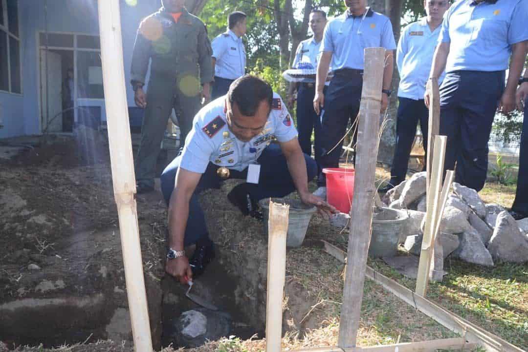 Danlanud Adisutjipto Melakukan Peletakan Batu Pertama Renovasi Ruangan Ruops Lanud Adisutjipto