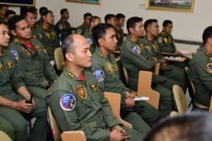 "HUT KE-74 REPUBLIK INDONESIA Kasau Apresiasi Tinggi Tim Flypast ""Merah Putih Flight""."