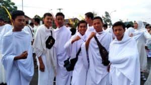 Perwakilan Siswa SMP Angkasa Adisutjipto mengikuti Simulasi Manasik Haji