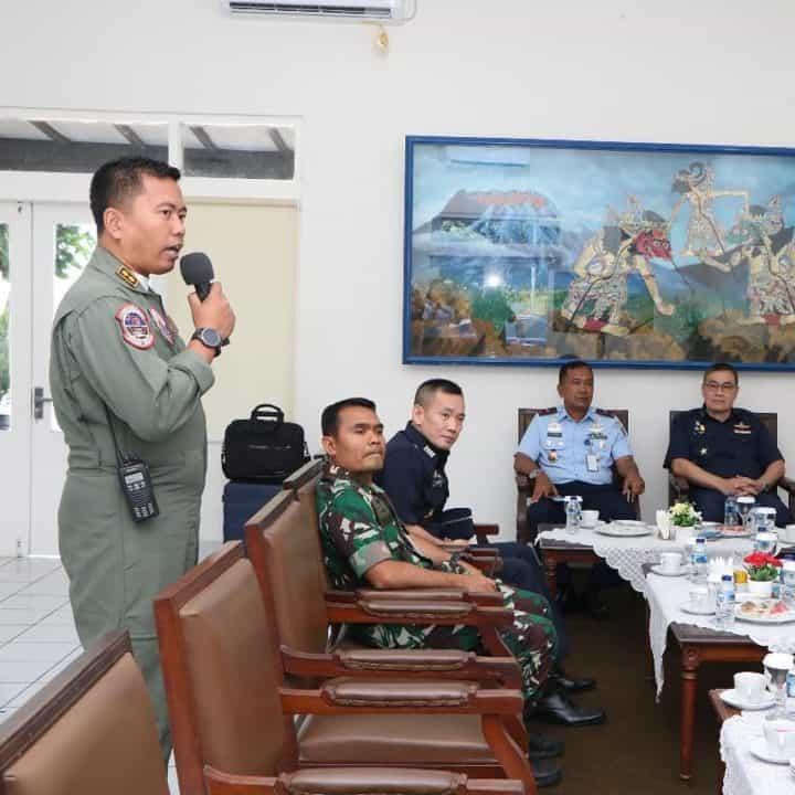 Cortessy Call Danlanud Adisutjipto dengan delegasi Seniors Officers Exchange Visit Programe RTAF