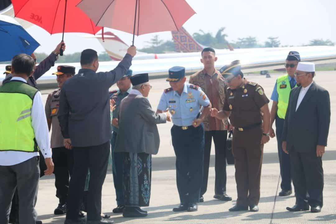 Pangkosekhanudnas III Sambut Wapres Terpilih RI di Bandara KNIA