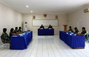 Komandan Lanud Dhomber Pimpin Sidang Pantukhir Daerah Calon Siswa (Casis) Bintara
