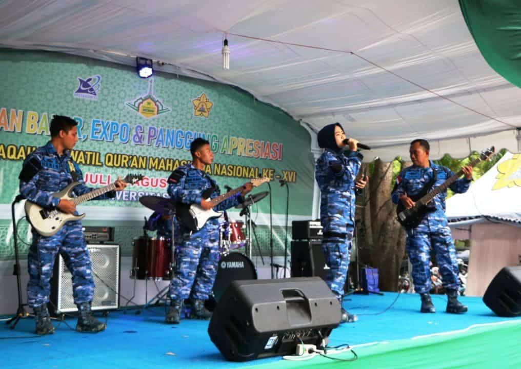 Angkasa Band Lanud Sim Tampil Pada Acara Tilawatil Qur'an, Dan Pekan Bazar Expo Universitas Syahkuala