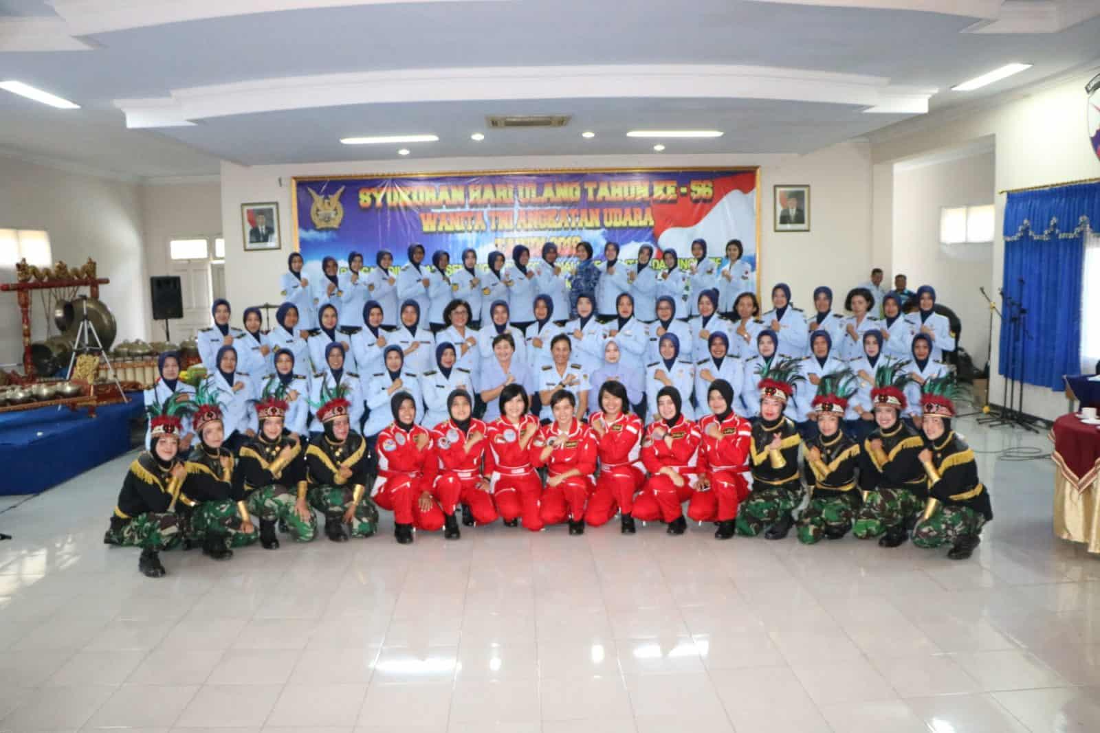 Wanita Angkatan Udara Peringati HUT Ke-56 di Lanud Adi Soemarmo