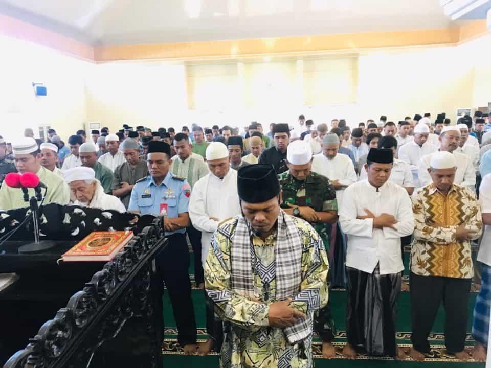 Jamaah Masjid Amrullah Lanud Rsn Laksanakan Shalat Istisqa