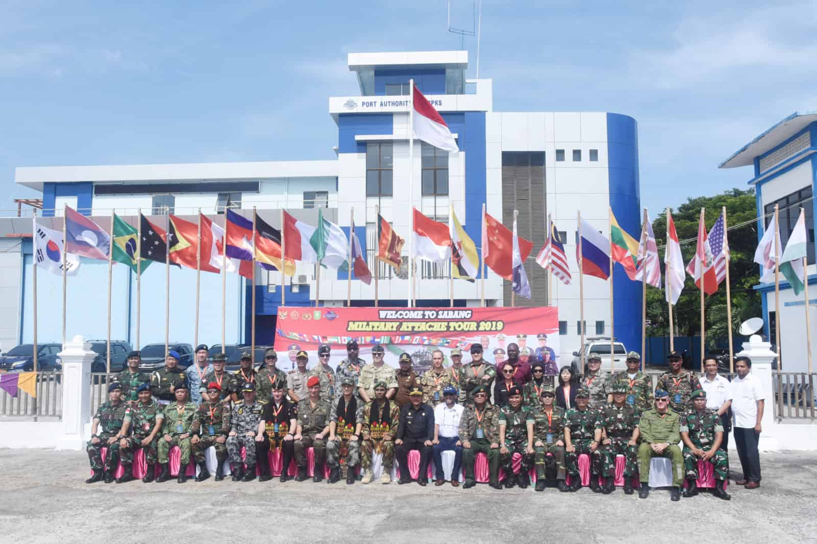 Komandan lanud Maimun Saleh Bersama Forkopimda Menyambut Kunjungan Military Attache Tour Ke Sabang