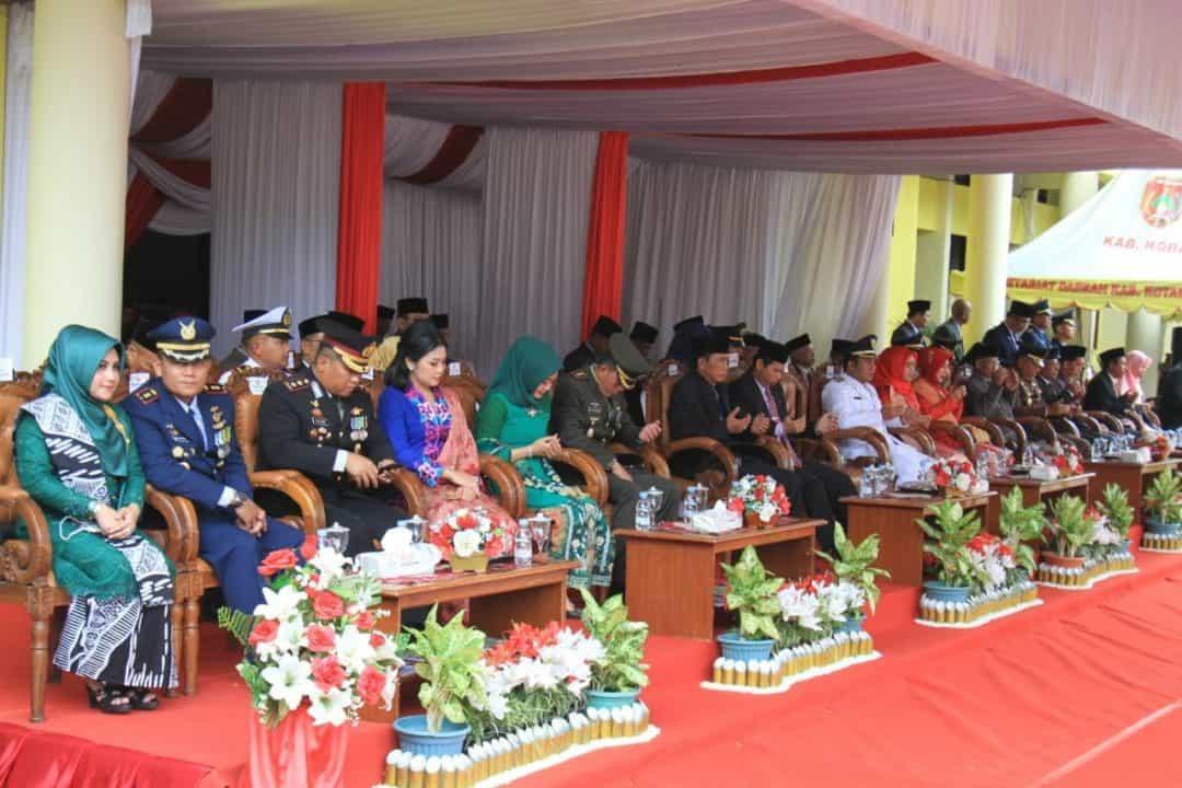 Komandan Lanud Iskandar Peringatan HUT RI ke 74 di Kabupaten Kobar