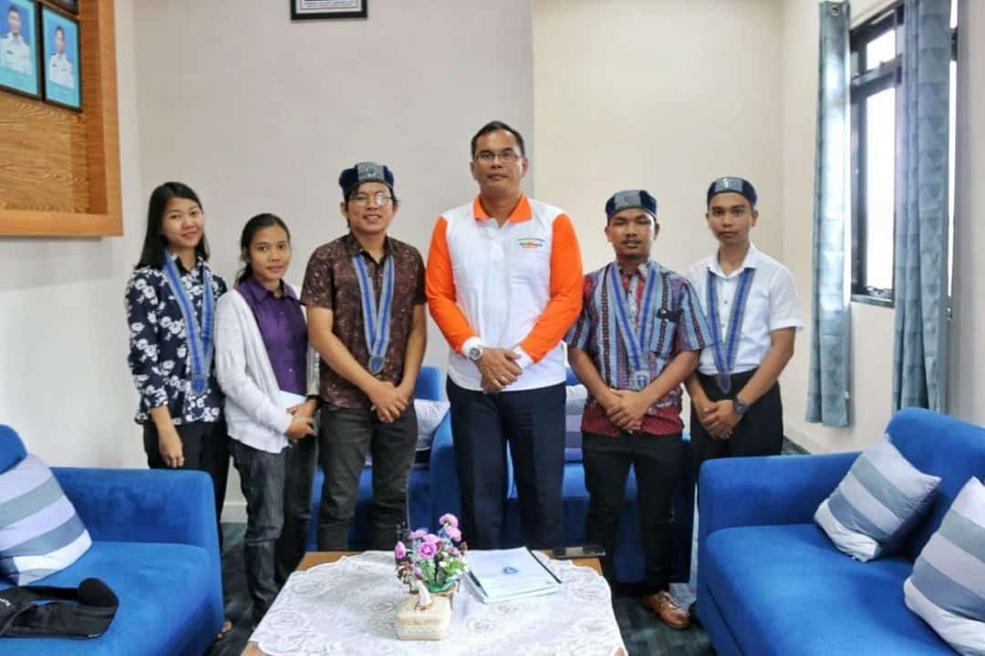 Danlanud Rhf Menerima Audiensi Komunitas Gerakan Mahasiswa Kristen Indonesia
