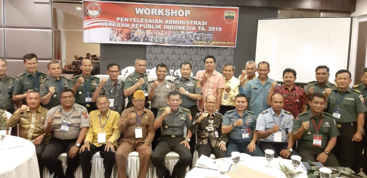Personil Lanud Sutan Sjahrir Hadiri Workshop Penyelesaian Administarasi Veteran RI T.A 2019