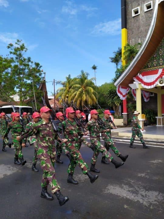 Personel Lanud Sutan Sjahrir Ikuti Gladi Paskibraka Persiapan Upacara 17 Agustus 2019 Mendatang.