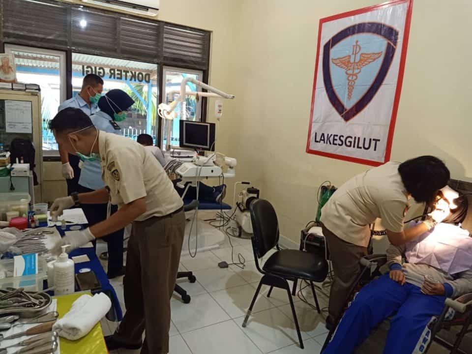 Lanud Sutan Sjahrir Melaksanakan Pemeriksaan Gigi dari Lakesgikut.