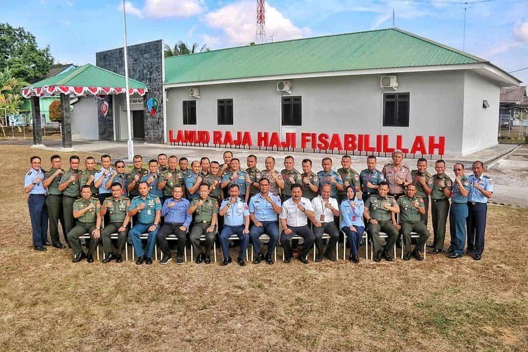Danlanud RHF Sambut Rombongan Pasis Sesko TNI Dikreg XLVI di Lanud Raja Haji Fisabilillah