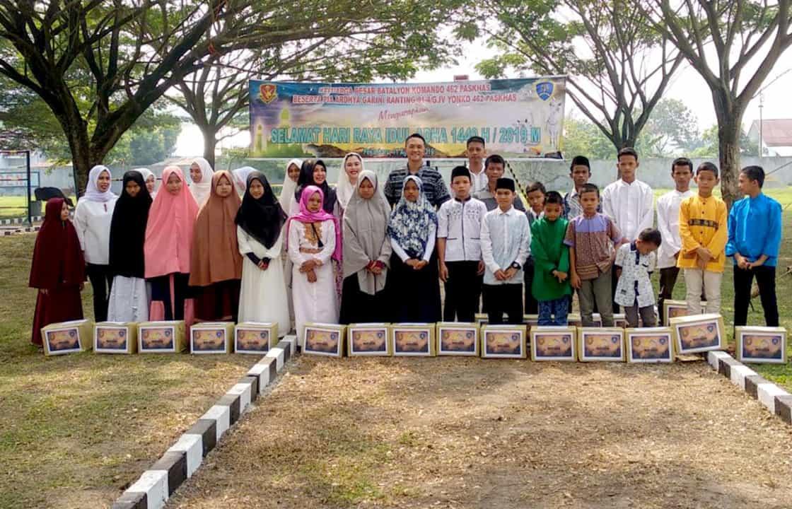 Yonko 462 Paskhas Potong Hewan Qurban Dan Berikan Santunan Anak Yatim
