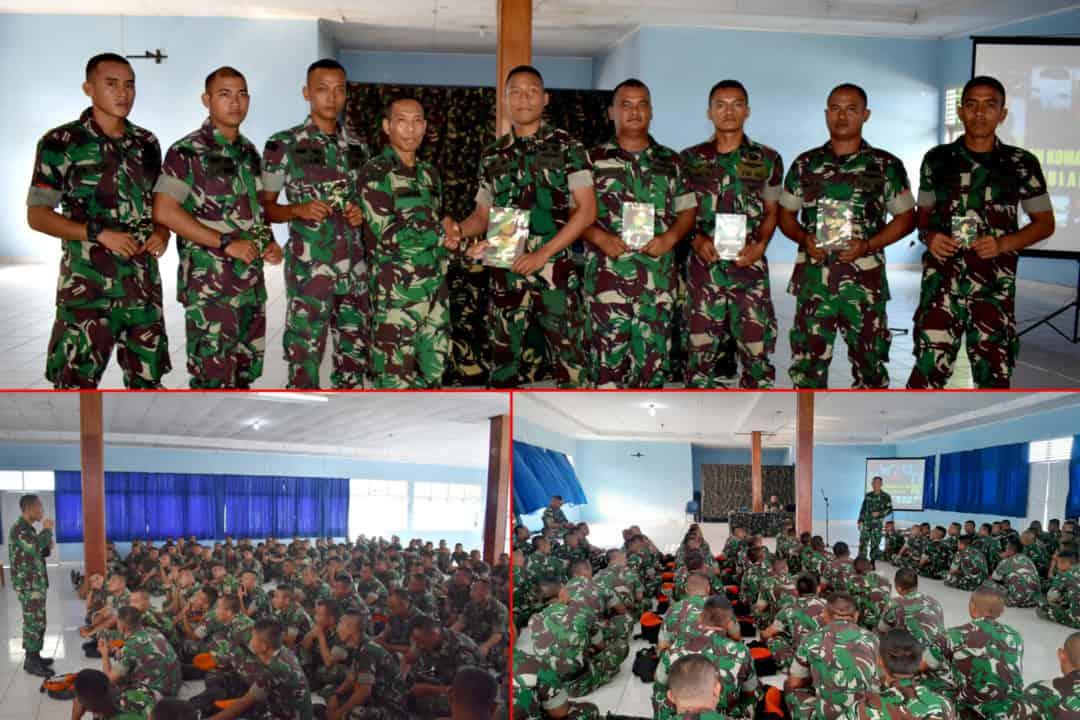 Satgas Pamrahwan Papua Yonko 462 Paskhas Terima Pembekalan Bintal