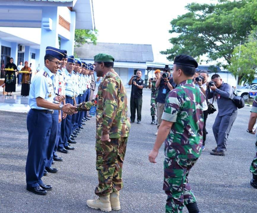 Danlanud Sim Terima Kunjungan Military Attache Tour Negara Sahabat