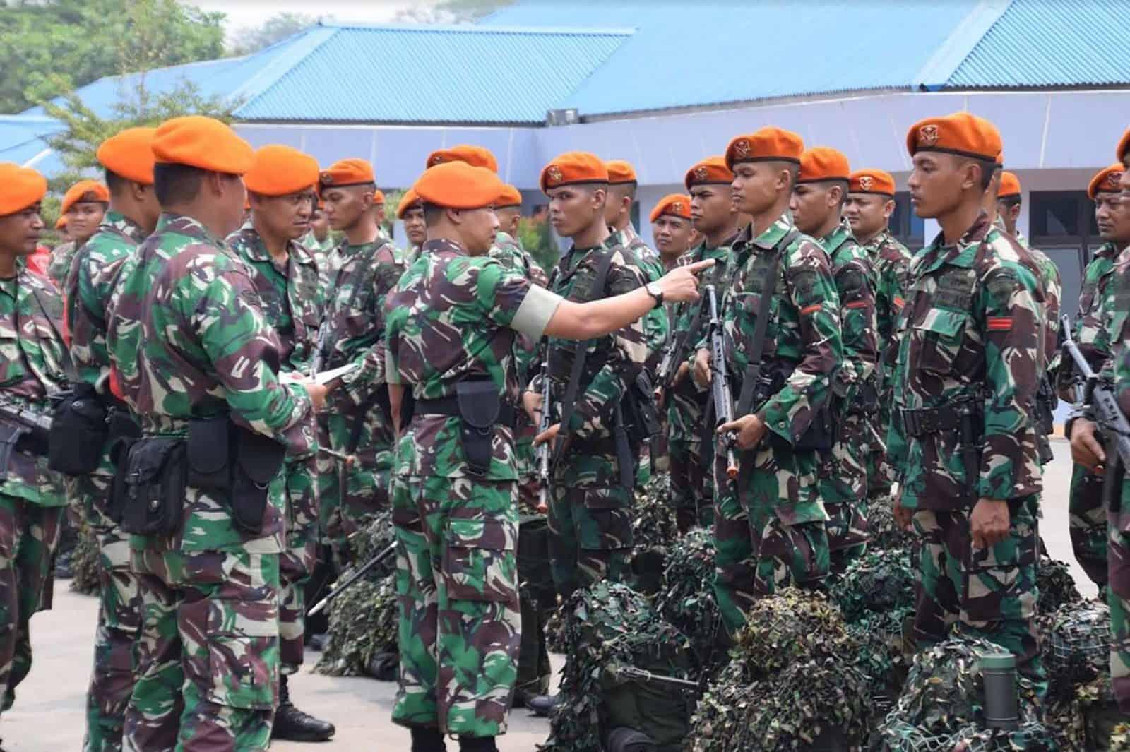 Apel Gelar Kesiapan Latgab TNI Wing I Paskhas Jajaran Jakarta