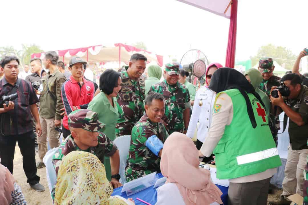 Bakti Sosial Trimatra Dalam Rangka HUT TNI ke-74 di Kabupaten Tulang Bawang