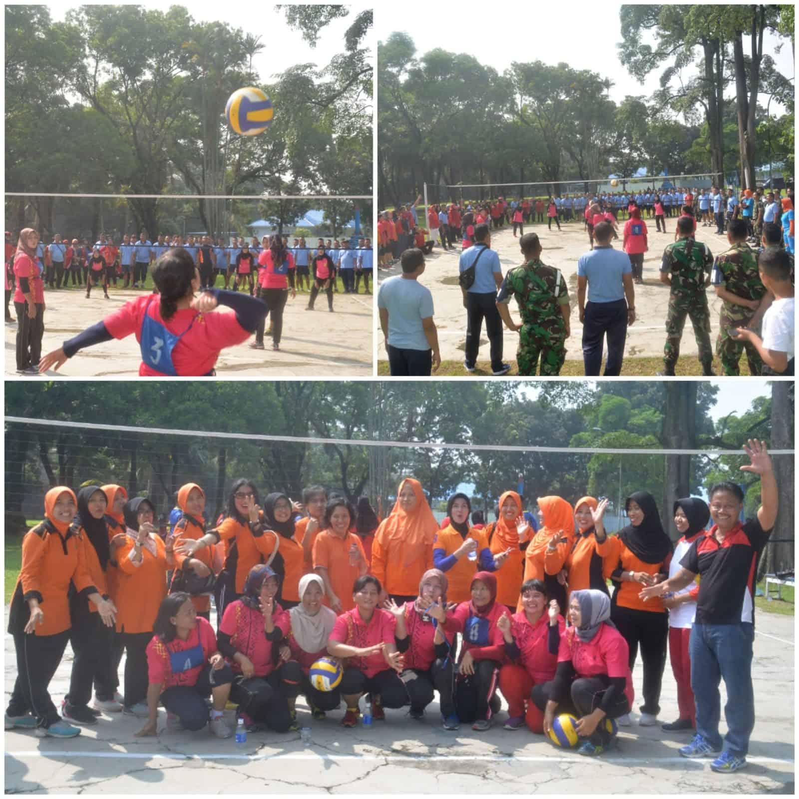 Tim Bola Volly PIA AG Cab. 15/D. I Lanud Soewondo Raih Juara I